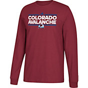 adidas Men's Colorado Avalanche Dassler Maroon Long Sleeve Shirt