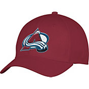 adidas Men's Colorado Avalance Alternate Colored Basic Structured Maroon Flex Hat