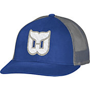 CCM Men's Hartford Whalers Trucker Royal Mesh Adjustable Hat