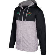 adidas Men's Minnesota Wild Black/Grey Full-Zip Hoodie