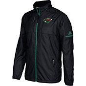 adidas Men's Minnesota Wild Authentic Rink Black Full-Zip Jacket