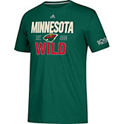 adidas Men's Minnesota Wild Centennial Lining Green Performance T-Shirt