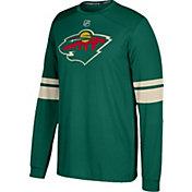 adidas Men's Minnesota Wild Jersey Green Long Sleeve Shirt