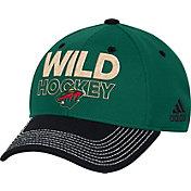 adidas Men's Minnesota Wild Locker Room Green Structured Fitted Flex Hat