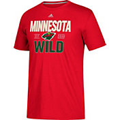 adidas Men's Minnesota Wild The Go-To Red Performance T-Shirt