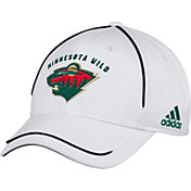 adidas Men's Minnesota Wild White Structured Adjustable Hat