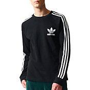 adidas Originals Men's 3-Stripes Pique Long Sleeve Shirt