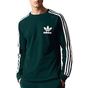 adidas Originals Men's 3-Stripes Pique Long Sleeve Shirt