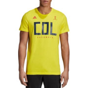 adidas Men's 2018 FIFA World Cup Colombia Crest Yellow T-Shirt