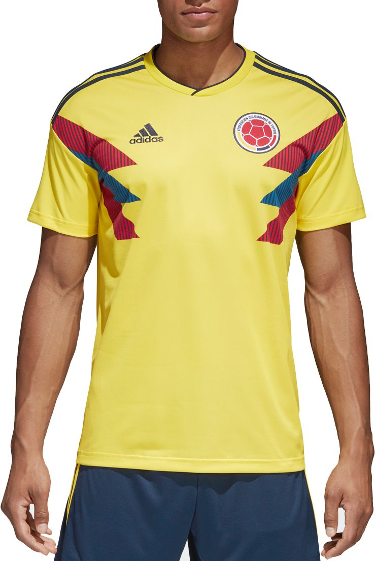adidas uomini colombia replica a casa gialla stadium new jersey dick