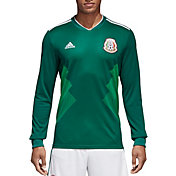 adidas Men's Mexico Replica Home Green Long Sleeve Stadium Jersey