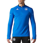 adidas Men's Boston Marathon Running Half Zip Long Sleeve Shirt