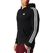 adidas hoodie mens. product image · adidas men\u0027s essentials 3-stripes full-zip fleece hoodie mens