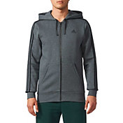 adidas Men's Essentials 3-Stripes Full-Zip Fleece Hoodie