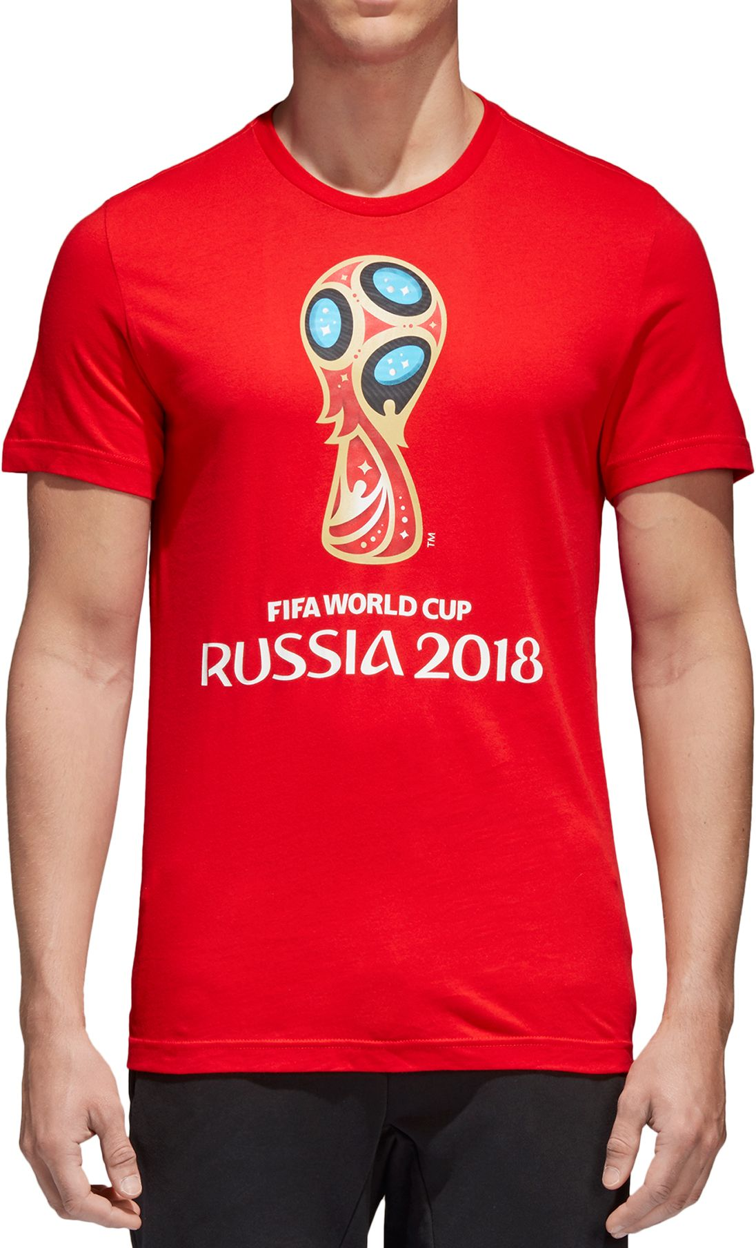 Adidas Mens  World Cup Russia Logo Red T Shirt Dicks Sporting Goods