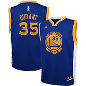 adidas Toddler Golden State Warriors Kevin Durant #35 Road Royal Replica Jersey