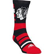 adidas Chicago Blackhawks Team Color Stripe Crew Socks