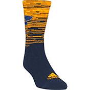 adidas St. Louis Blues Heathered Crew Socks