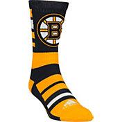 adidas Boston Bruins Team Color Stripe Crew Socks