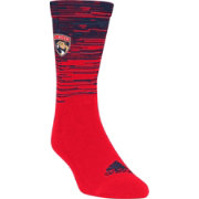 adidas Florida Panthers Heathered Crew Socks