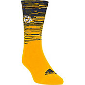 adidas Nashville Predators Heathered Crew Socks