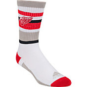 adidas Detroit Red Wings White Stripe Crew Socks