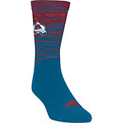 adidas Colorado Avalanche Heathered Crew Socks