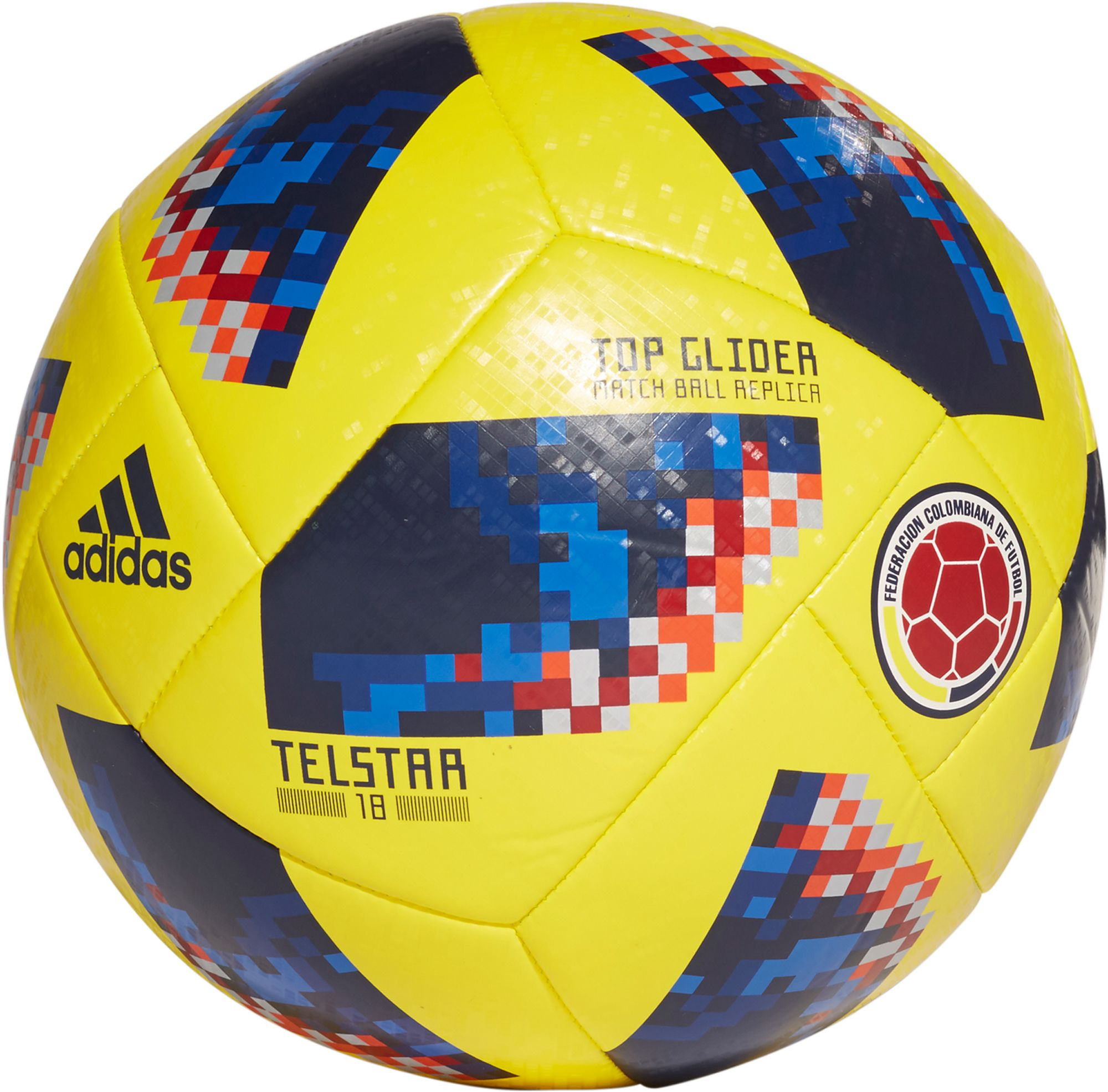 low priced 88f7c 2a014 ... release date adidas 2018 fifa world cup russia colombia supporters glider  soccer ball dicks sporting goods