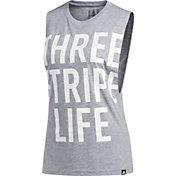 adidas Women's '3 Stripe Life' Muscle Tank Top