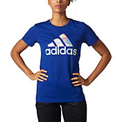 adidas Women's Badge Of Sport Mesh Foil T-Shirt