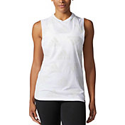 adidas Women's Allover Badge of Sport Muscle Tank Top