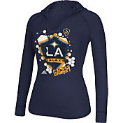 adidas Women's Los Angeles Galaxy Navy Long Sleeve Hooded T-Shirt