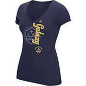 adidas Women's Los Angeles Galaxy V-Neck Slub T-Shirt