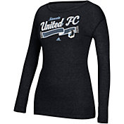 adidas Women's Minnesota United FC Logo Grey Long Sleeve T-Shirt