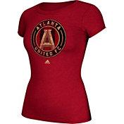 adidas Women's Atlanta United Primiere Logo Red T-Shirt