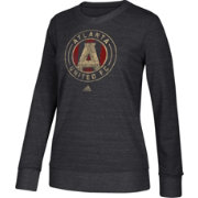 adidas Women's Atlanta United Her Full Color Black Heathered Crew Pullover Sweatshirt