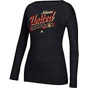 adidas Women's Atlanta United Logo Black Long Sleeve T-Shirt