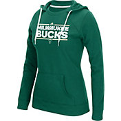 adidas Women's Milwaukee Bucks Green Fleece Crewdie