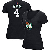 adidas Women's Boston Celtics Isaiah Thomas #4 Black Tri-Blend V-Neck T-Shirt