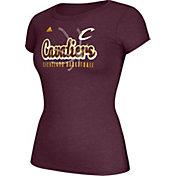 adidas Women's Cleveland Cavaliers Script Logo Burgundy T-Shirt