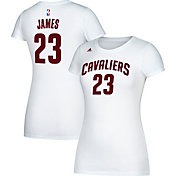 adidas Women's Cleveland Cavaliers LeBron James #23 White T-Shirt