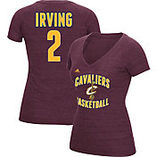 adidas Women's Cleveland Cavaliers Kyrie Irving #2 Burgundy Tri-Blend V-Neck T-Shirt