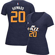 adidas Women's Utah Jazz Gordon Hayward #20 Navy Tri-Blend V-Neck T-Shirt
