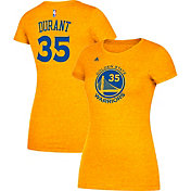 adidas Women's Golden State Warriors Kevin Durant #35 Gold T-Shirt