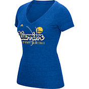 adidas Women's Golden State Warriors Royal Tri-Blend V-Neck T-Shirt