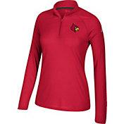 adidas Women's Louisville Cardinals Cardinal Red Ultimate Quarter-Zip Shirt