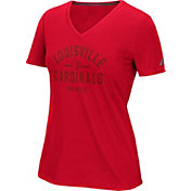 adidas Women's Louisville Cardinals Red V-Neck T-Shirt
