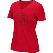 adidas Women's Louisville Cardinals Red V-Neck T-Shirt