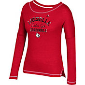 adidas Women's Louisville Cardinals Cardinal Red Soft & Faded Tri-Blend Long Sleeve Shirt