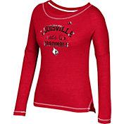 adidas Women's Louisville Cardinals Cardinal Red Soft & Faded Tri-Blend Long Sleeve Shirt